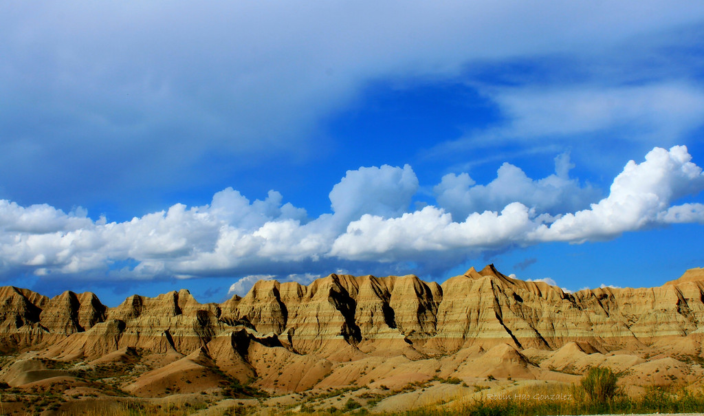 August in the Badlands